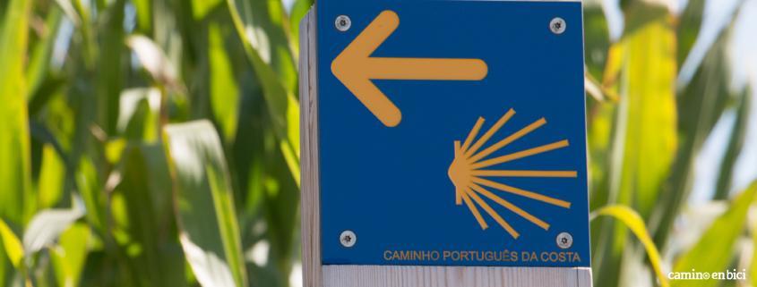 Camino Portugues por la Costa en Bici - señalización