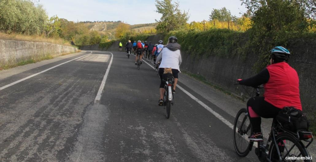 Camino de Santiago en e-bike: grupo en e-bike y MTB