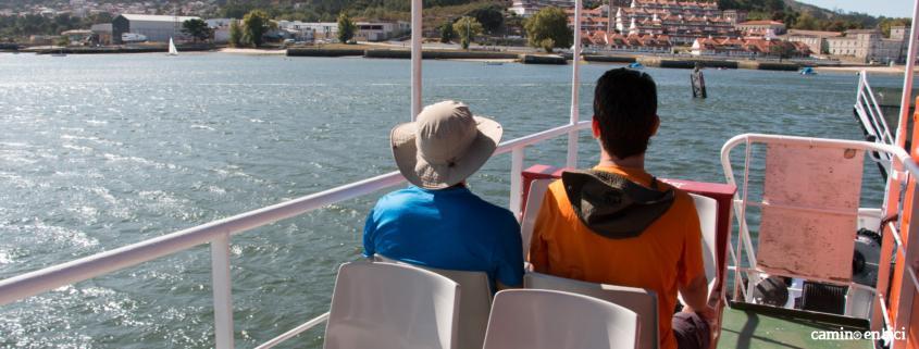 Camino Portugués por la Costa en bici- Ferry de Caminha a Aguarda